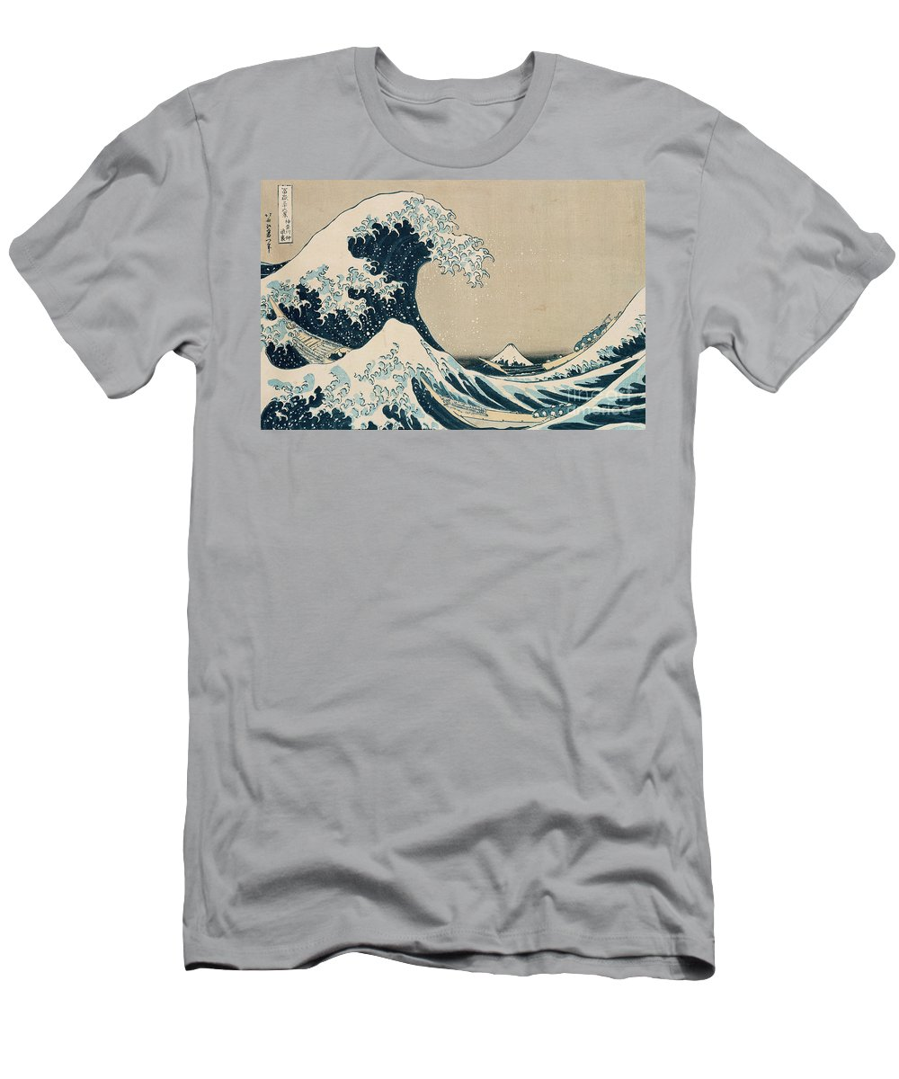 Wave T-Shirt featuring the painting The Great Wave of Kanagawa by Hokusai