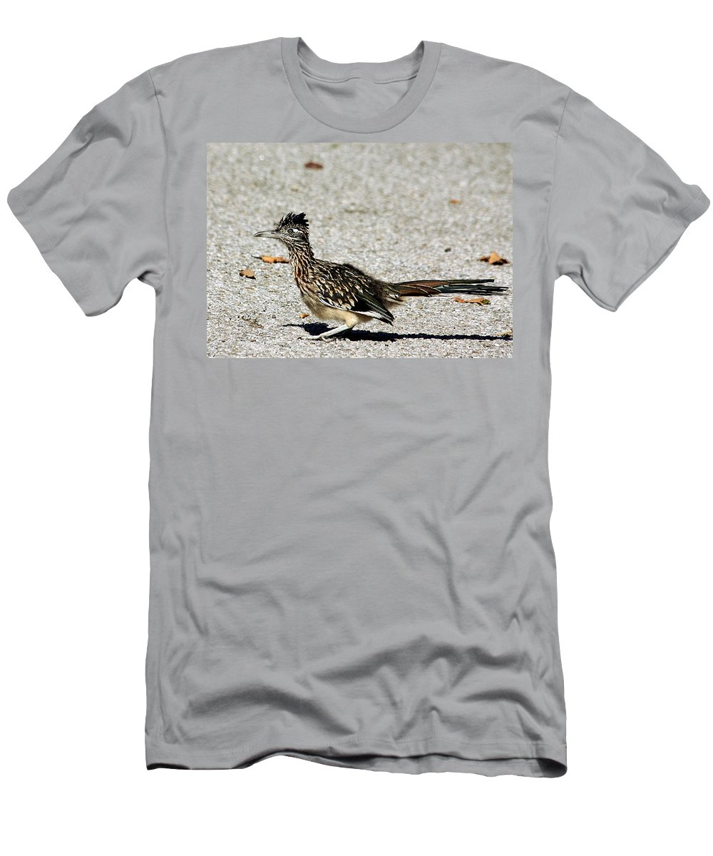 Nature Men's T-Shirt (Athletic Fit) featuring the photograph The Greater Roadrunner by Sheila Brown