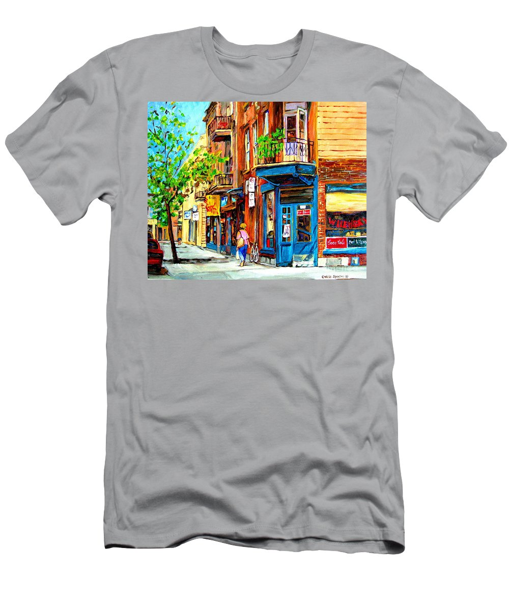 Wilenskys T-Shirt featuring the painting The Lady in Pink by Carole Spandau