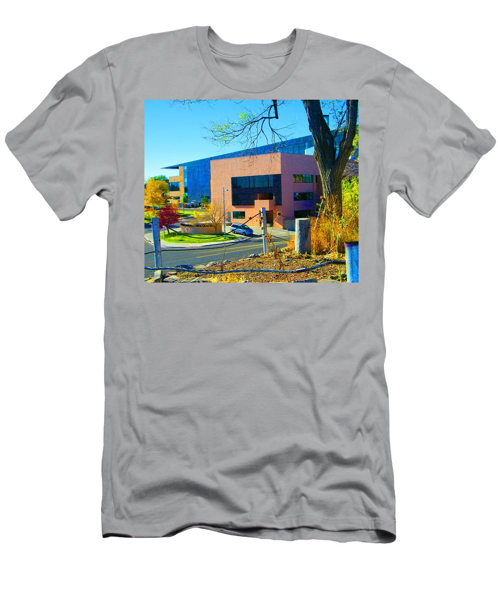 Abstract Men's T-Shirt (Athletic Fit) featuring the photograph The Library by Lenore Senior