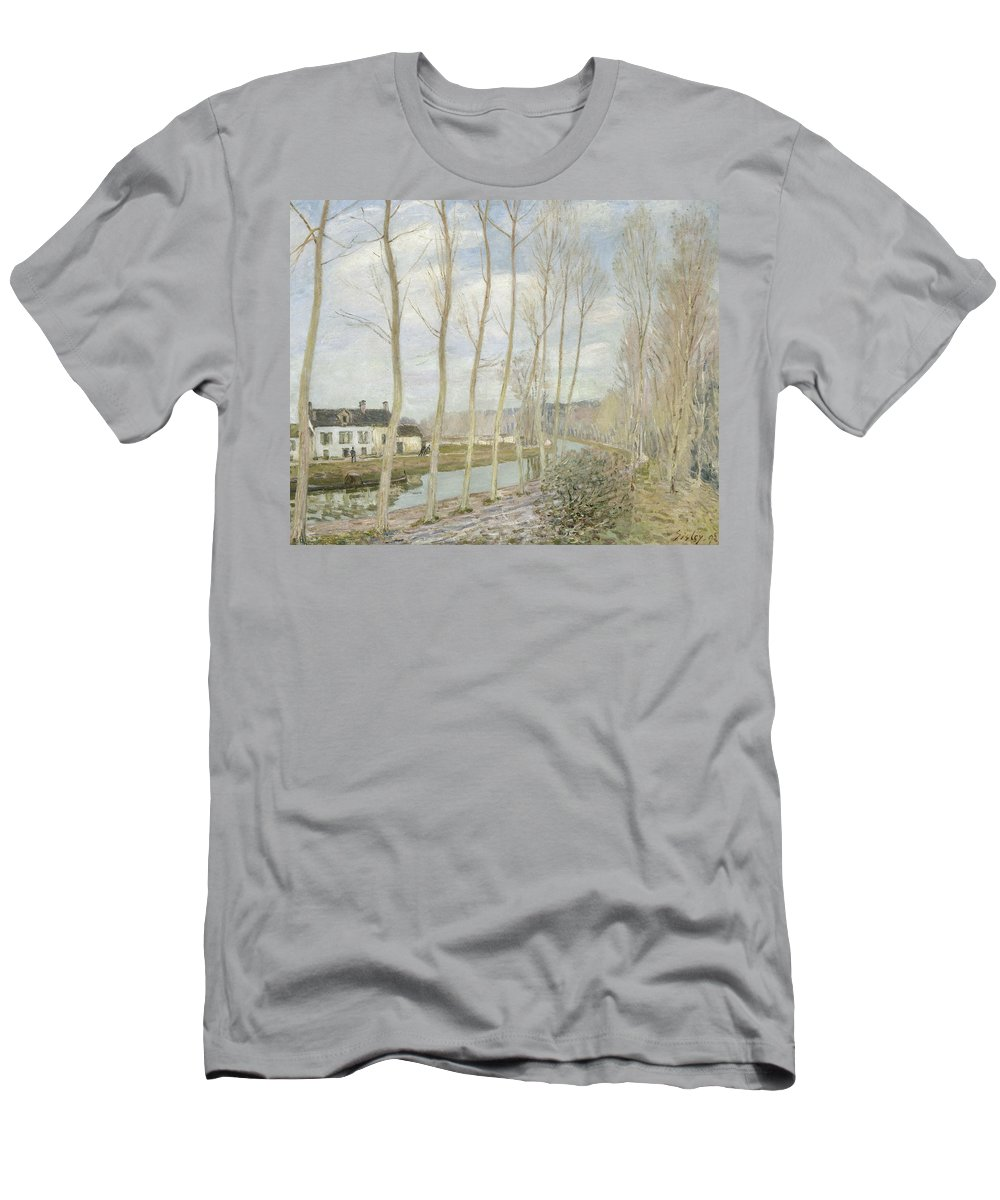 Alfred Sisley T-Shirt featuring the painting The Loing's Canal by Alfred Sisley