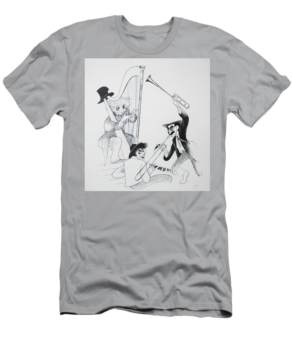 The Marx Brothers Men's T-Shirt (Athletic Fit) featuring the photograph The Marx Brothers O by Rob Hans