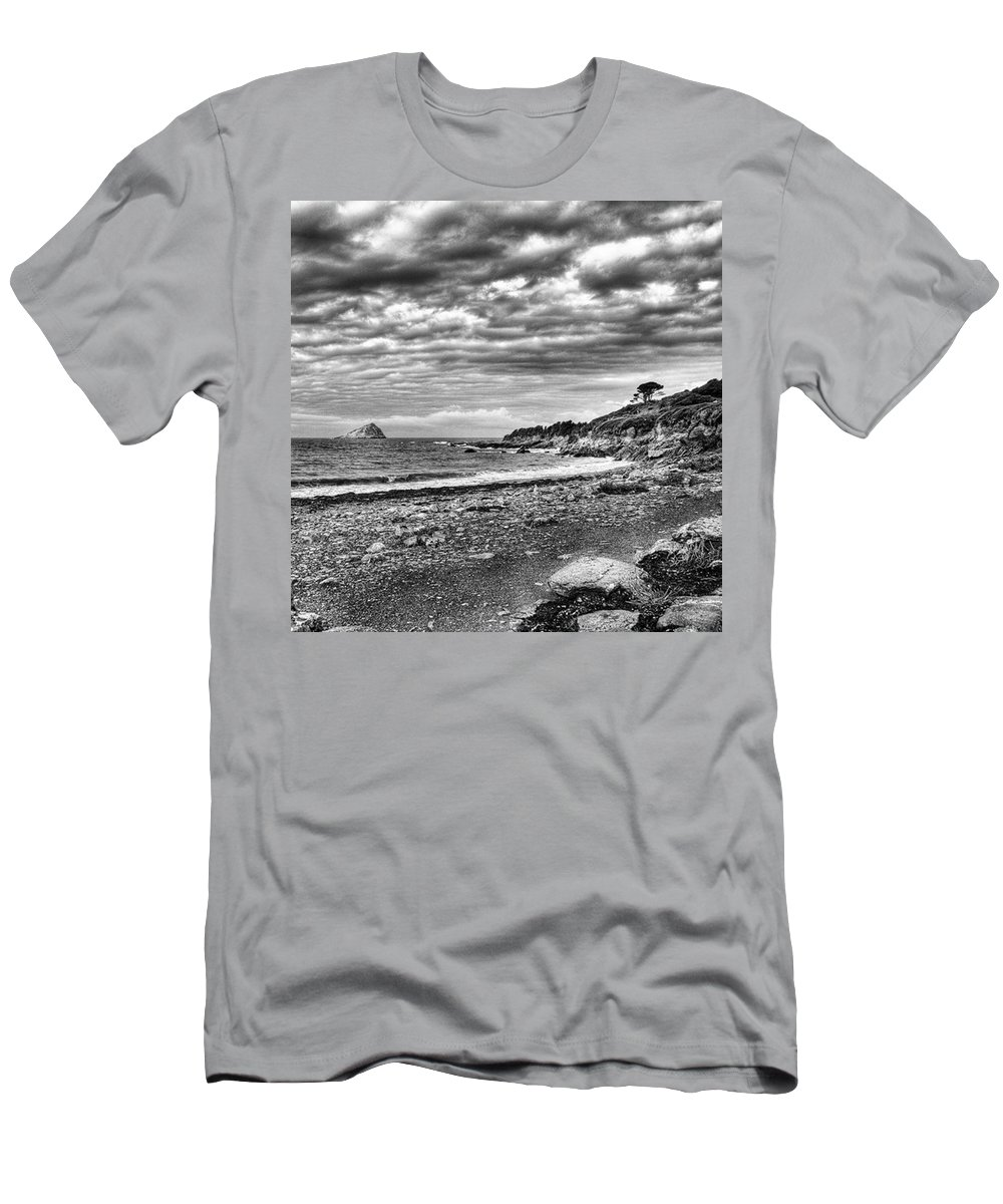 Devonshire T-Shirt featuring the photograph The Mewstone, Wembury Bay, Devon #view by John Edwards