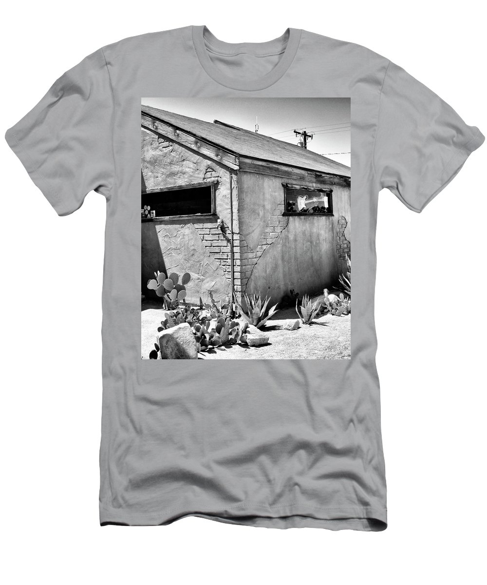 Pioneertown Men's T-Shirt (Athletic Fit) featuring the photograph The Morning After by William Dey