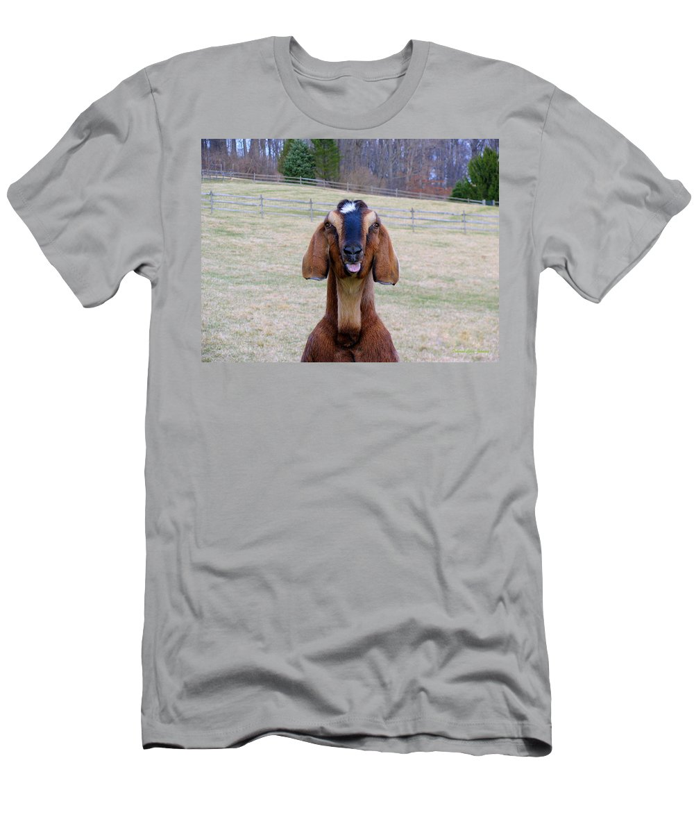 Animals Men's T-Shirt (Athletic Fit) featuring the photograph The Name Is Billy... by Deborah Crew-Johnson