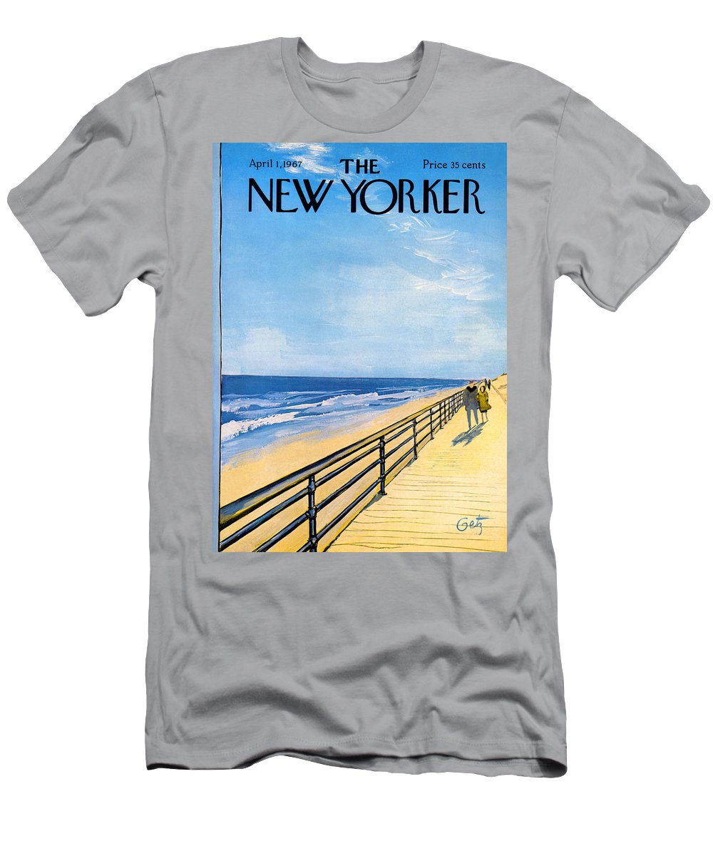 Arthur T-Shirt featuring the painting The New Yorker Cover - April 1st, 1967 by Arthur Getz