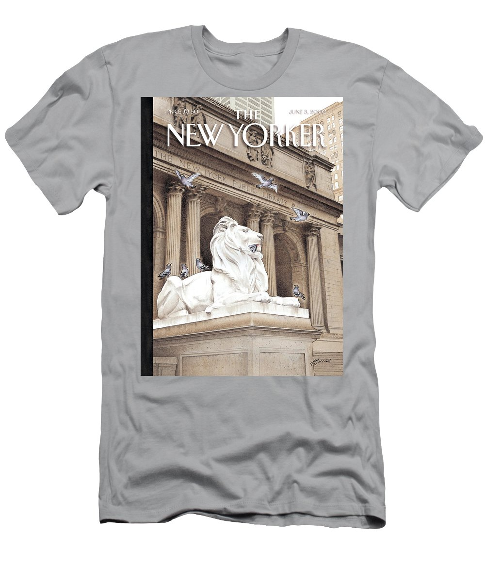 New Men's T-Shirt (Athletic Fit) featuring the photograph It Is A Jungle Out There by Harry Bliss