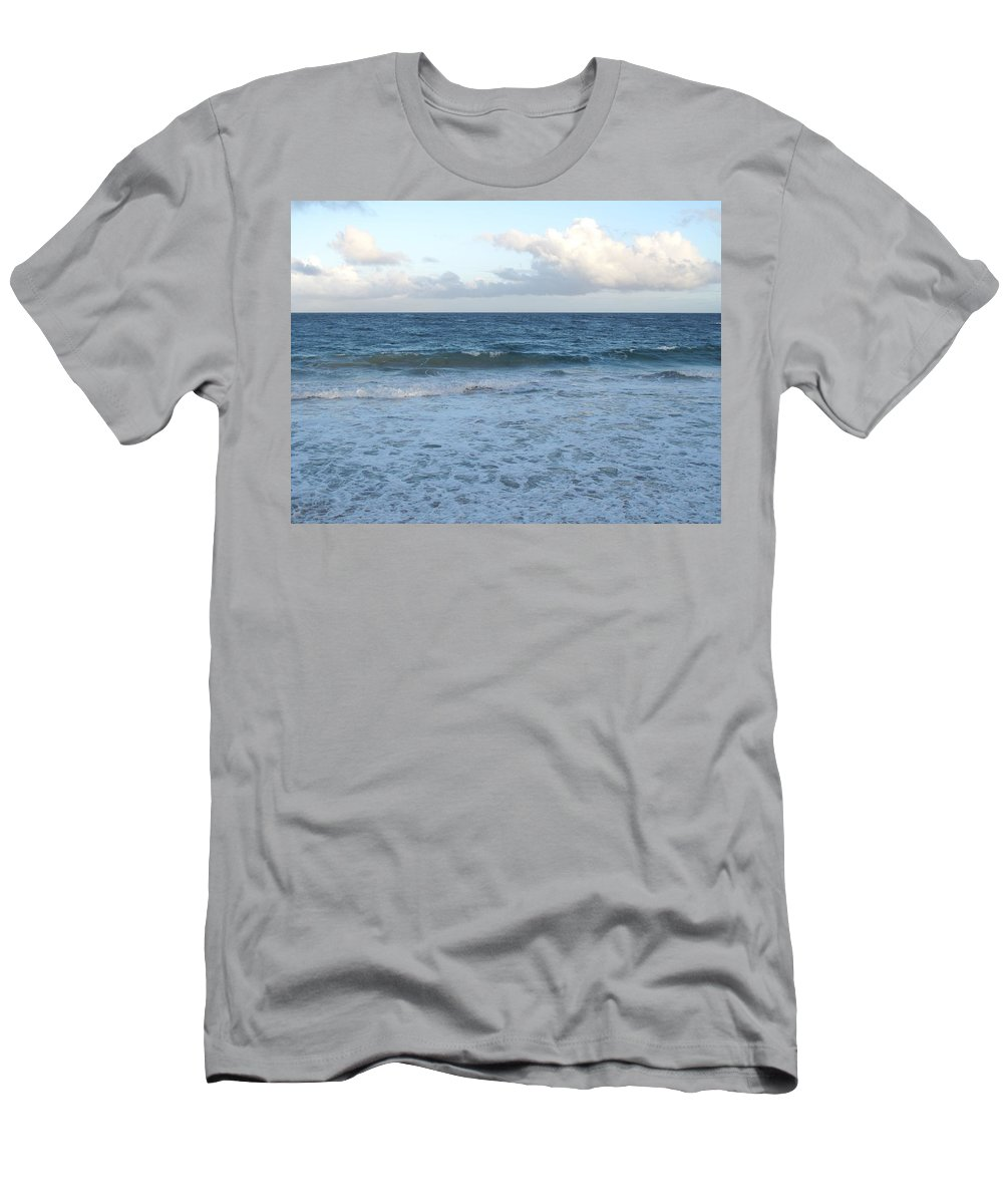 Surf Men's T-Shirt (Athletic Fit) featuring the photograph The Next Wave by Ian MacDonald