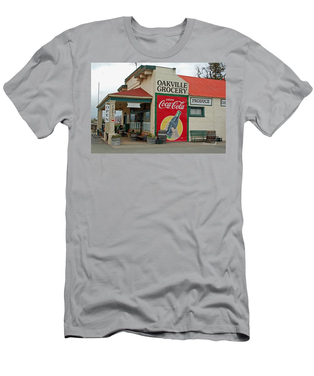 Oakville Grocery Men's T-Shirt (Athletic Fit) featuring the photograph The Oakville Grocery by Suzanne Gaff