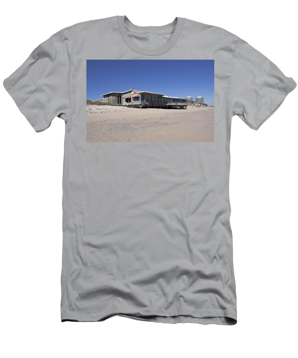 Florida Men's T-Shirt (Athletic Fit) featuring the photograph The Ocean Grill At Vero Beach In Florida by Allan Hughes