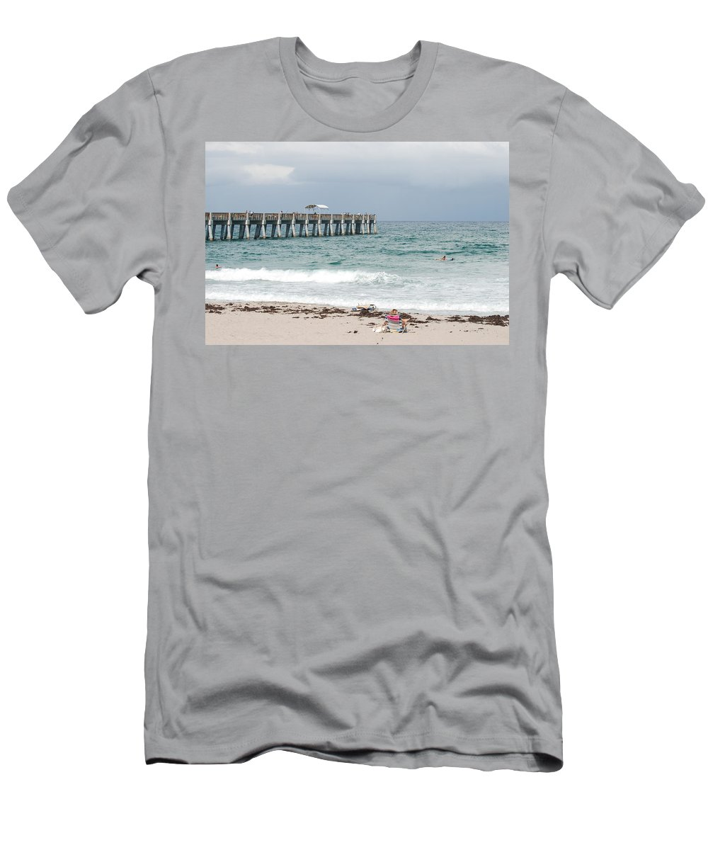 Women Men's T-Shirt (Athletic Fit) featuring the photograph The Ocean Pier by Rob Hans