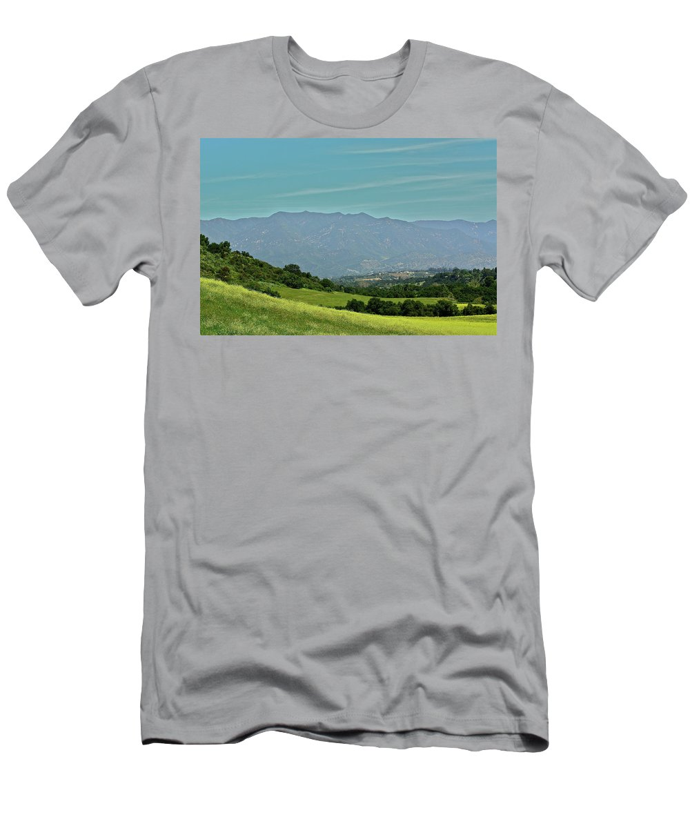 Landscape Men's T-Shirt (Athletic Fit) featuring the photograph The Ojai Valley by Diana Hatcher