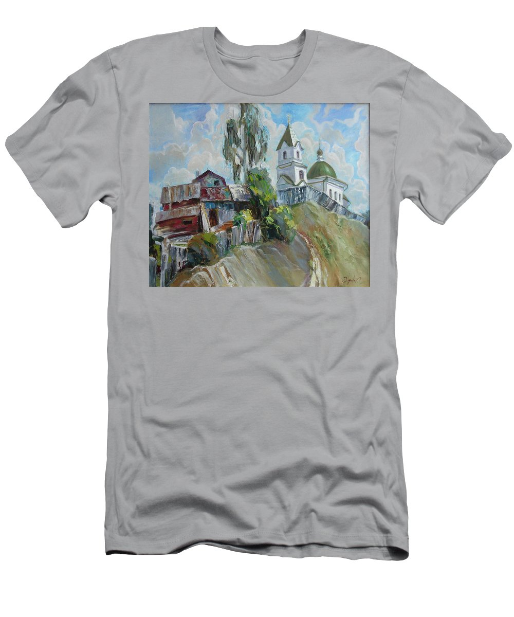 Oil Men's T-Shirt (Athletic Fit) featuring the painting The Old And New by Sergey Ignatenko