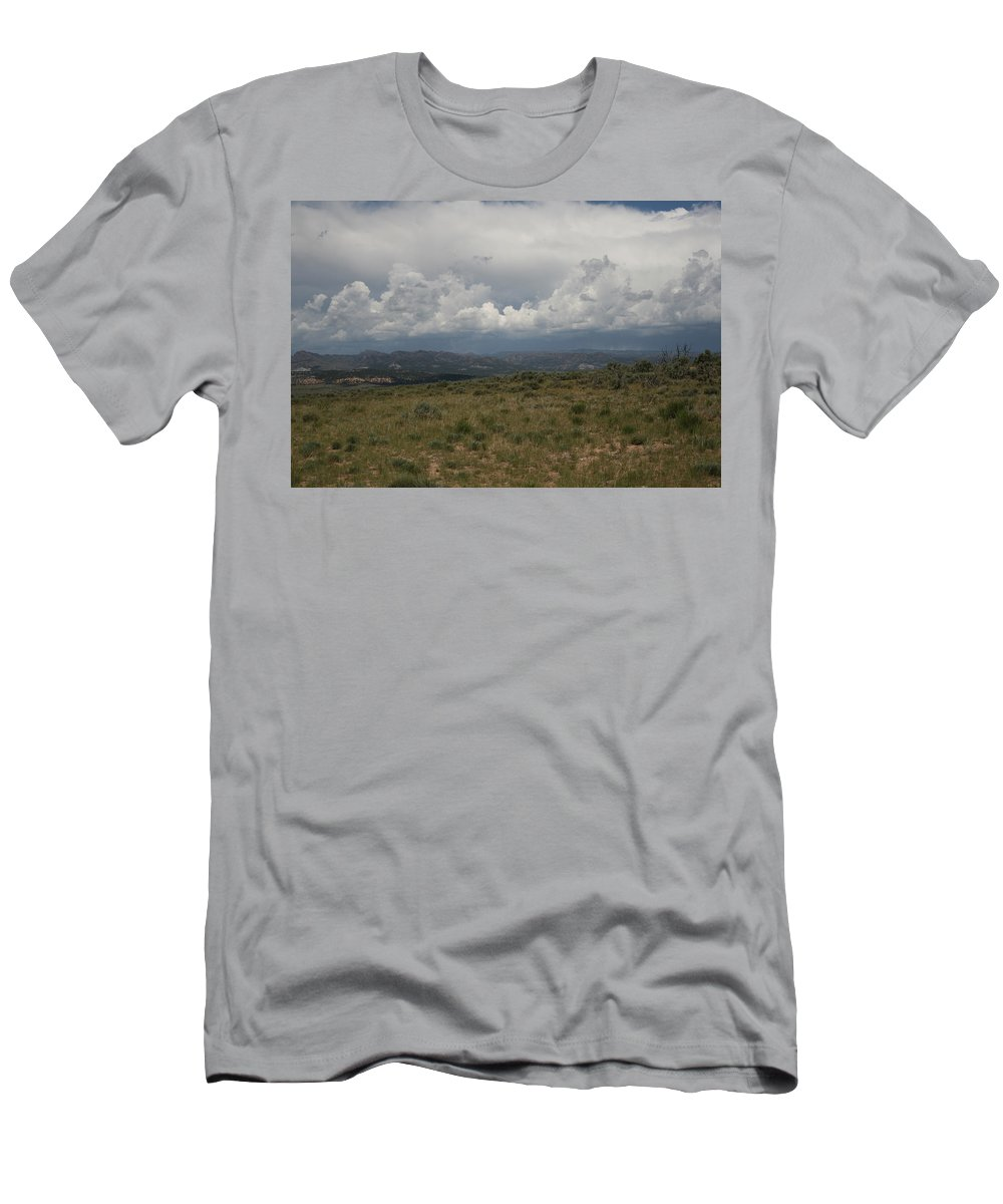 Storm Men's T-Shirt (Athletic Fit) featuring the photograph The Oncoming Storm by Ashlyn Yates