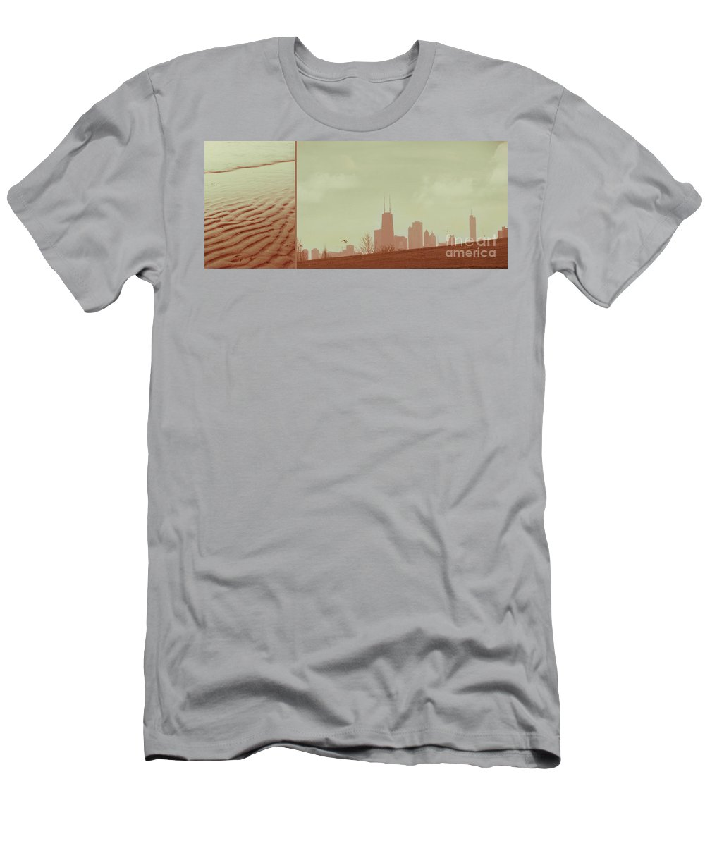 Beach Men's T-Shirt (Athletic Fit) featuring the photograph The Other Side Of Fate by Dana DiPasquale