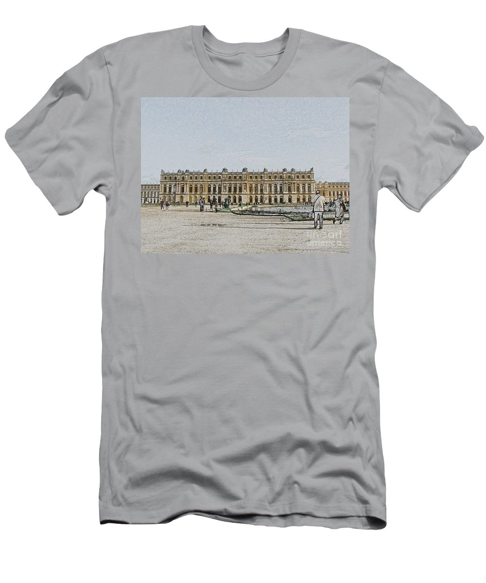 Palace Men's T-Shirt (Athletic Fit) featuring the photograph The Palace Of Versailles by Amanda Barcon