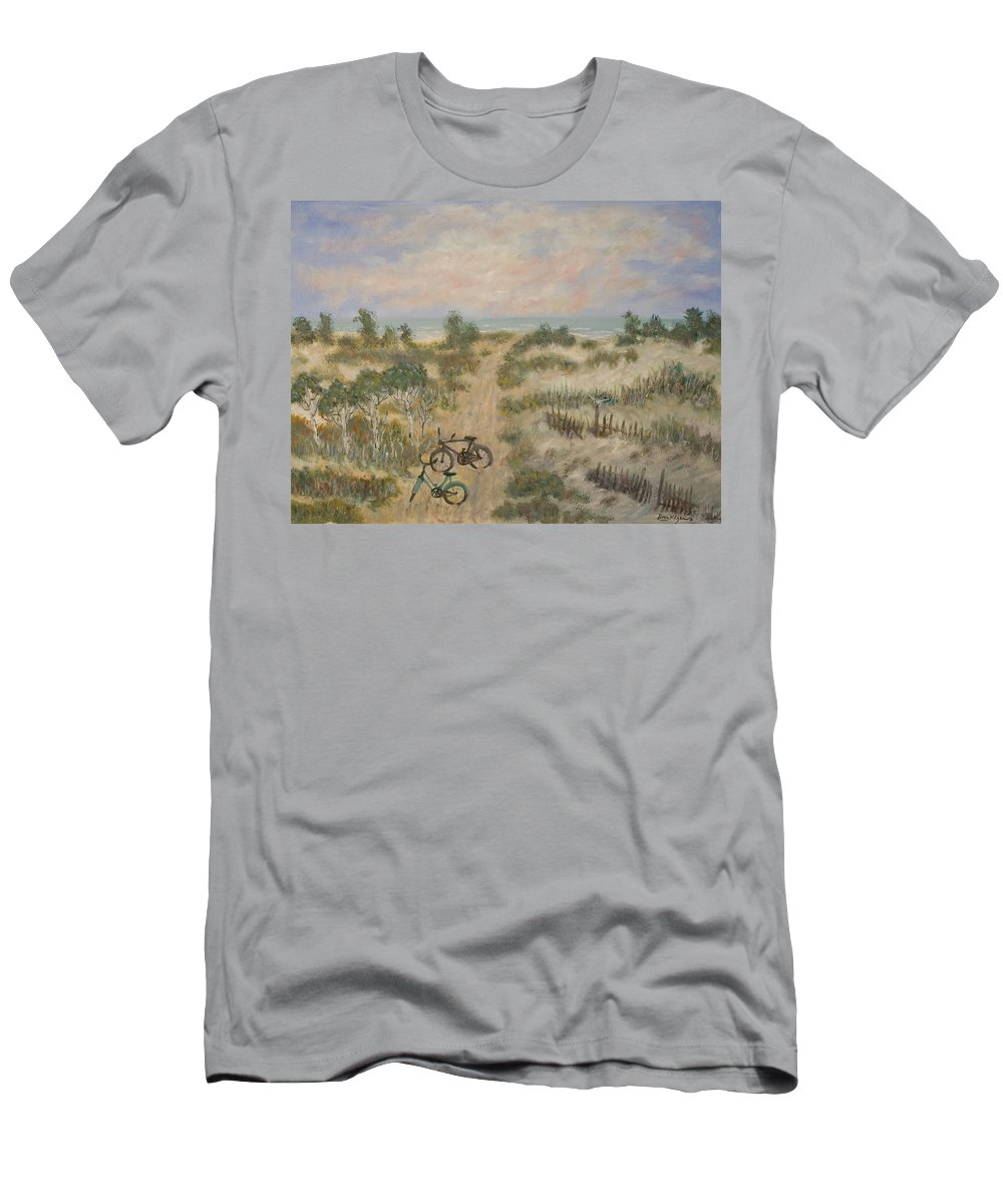 Beach Men's T-Shirt (Athletic Fit) featuring the painting The Path by Ben Kiger