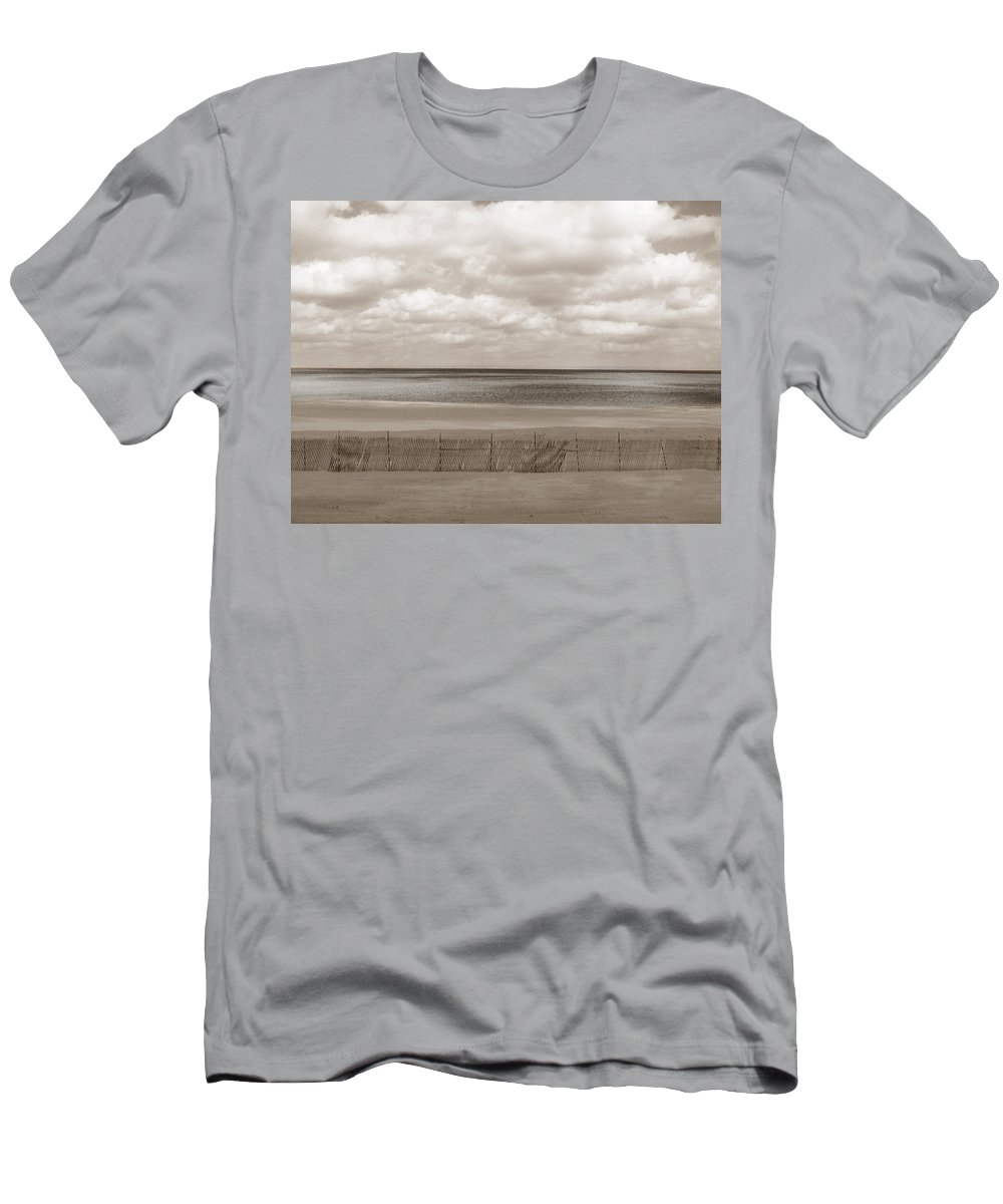 Ocean Men's T-Shirt (Athletic Fit) featuring the photograph The Perfect Sky Is Torn by Dana DiPasquale
