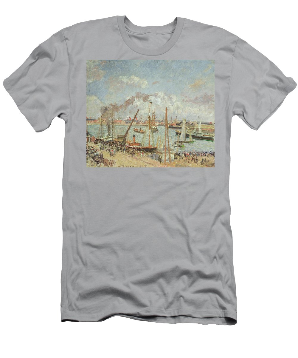 The Men's T-Shirt (Athletic Fit) featuring the painting The Port Of Le Havre In The Afternoon Sun by Camille Pissarro