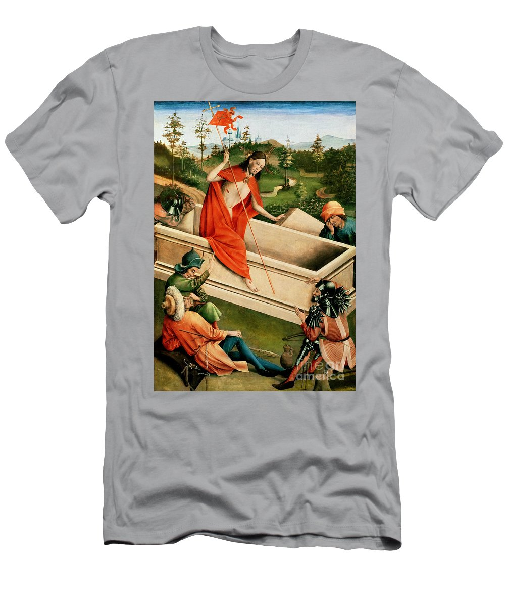 The Men's T-Shirt (Athletic Fit) featuring the painting The Resurrection by Johann Koerbecke