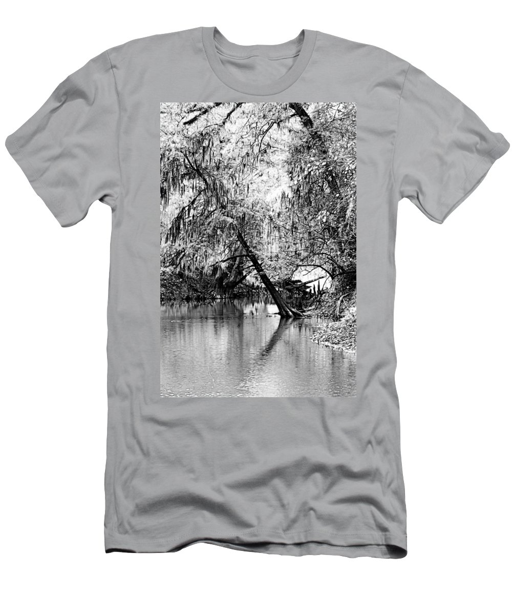 River Men's T-Shirt (Athletic Fit) featuring the photograph The River Filtered by Lisa Stanley