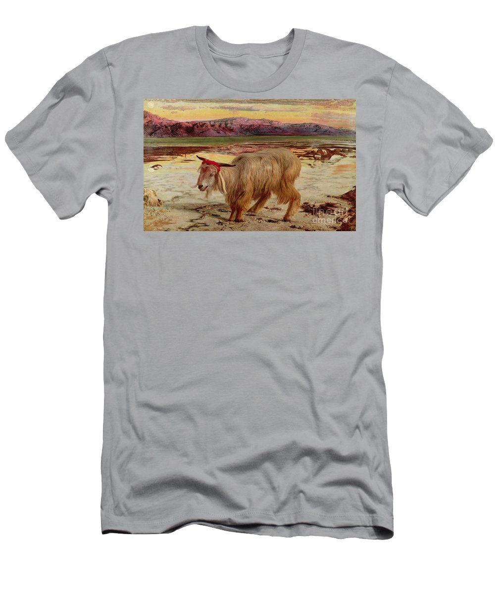 The Scapegoat Men's T-Shirt (Athletic Fit) featuring the painting The Scapegoat by William Holman Hunt
