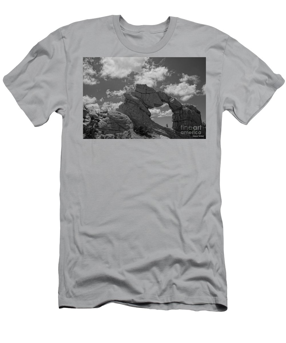 Landscape Men's T-Shirt (Athletic Fit) featuring the photograph The Secret Arch by Grayson Tamberi