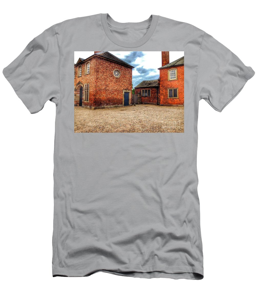 Manor House Men's T-Shirt (Athletic Fit) featuring the photograph The Side Door by Joan-Violet Stretch