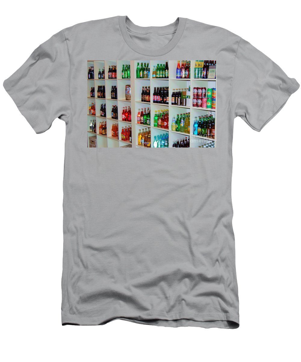 Soda Men's T-Shirt (Athletic Fit) featuring the photograph The Soda Gallery by Debbi Granruth