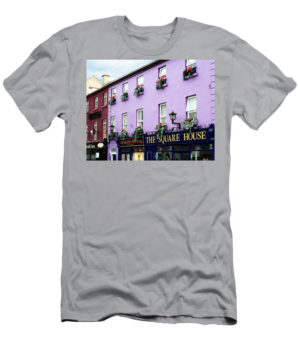 Irish Men's T-Shirt (Athletic Fit) featuring the photograph The Square House Athlone Ireland by Teresa Mucha