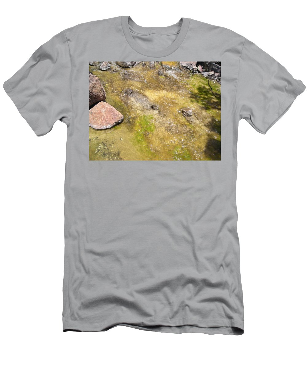 Rocks Men's T-Shirt (Athletic Fit) featuring the photograph The Stream by Stacey Marshall