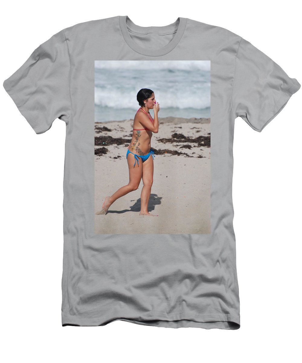 Sexy Men's T-Shirt (Athletic Fit) featuring the photograph The Tattooed Lady by Rob Hans