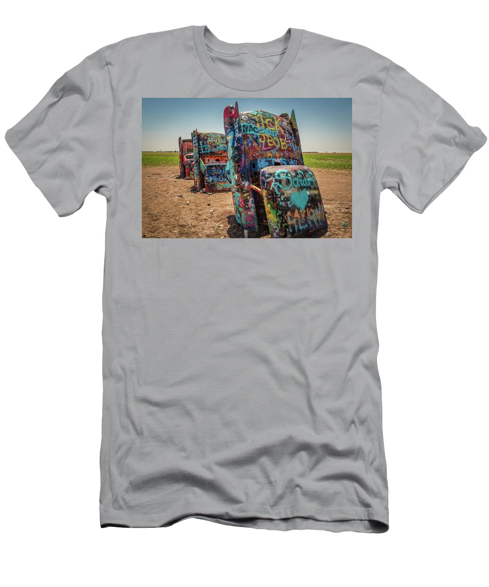 Cadillac Men's T-Shirt (Athletic Fit) featuring the photograph The Three Amigos by Vincent Asbjornsen