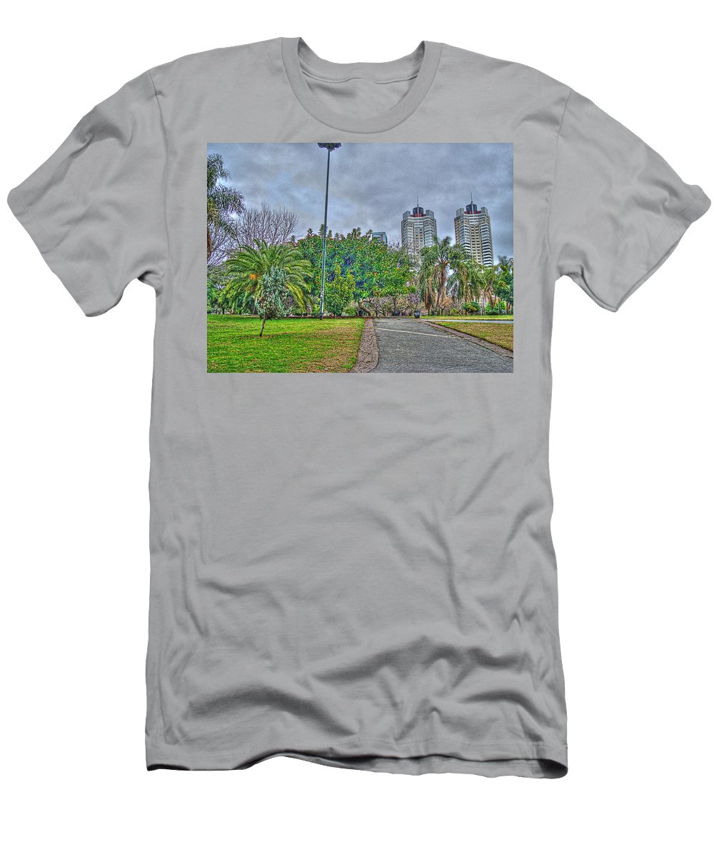Towers Men's T-Shirt (Athletic Fit) featuring the photograph The Towers by Francisco Colon