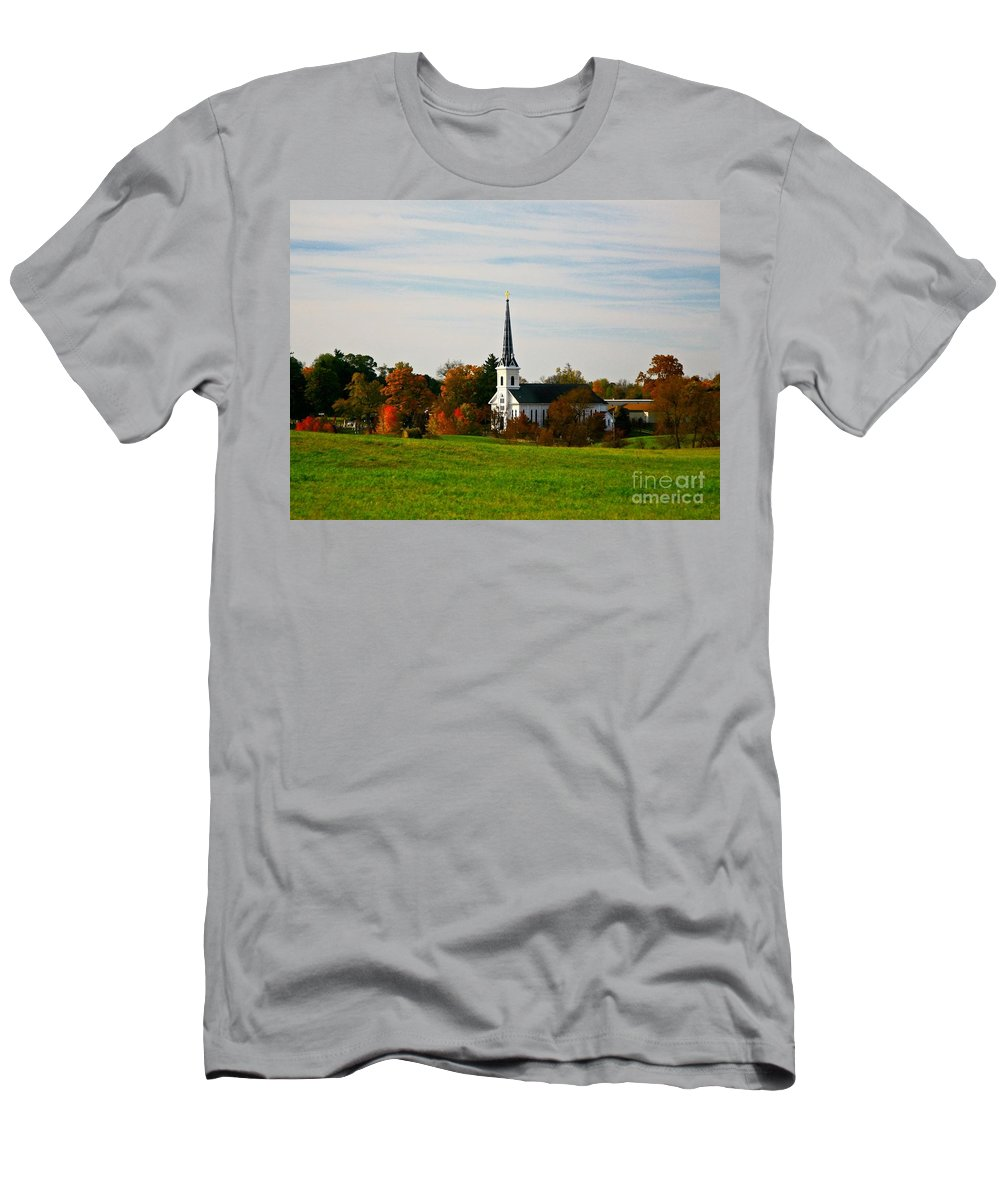 Fall Men's T-Shirt (Athletic Fit) featuring the photograph The Town Church by Robert Pearson