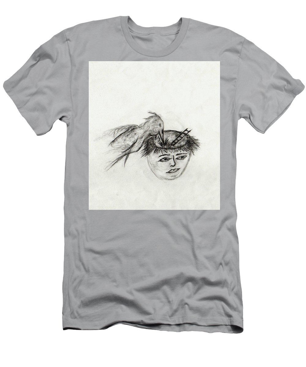 Abstract Men's T-Shirt (Athletic Fit) featuring the drawing The Treasure Hunter by John Krakora