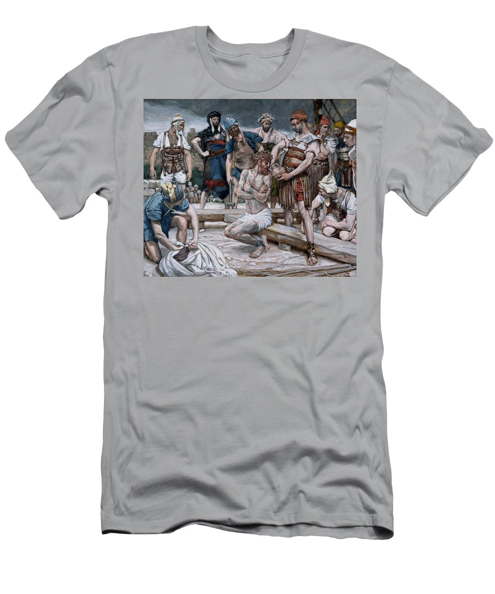 Dutch Courage Men's T-Shirt (Athletic Fit) featuring the painting The Wine Mixed With Myrrh by Tissot
