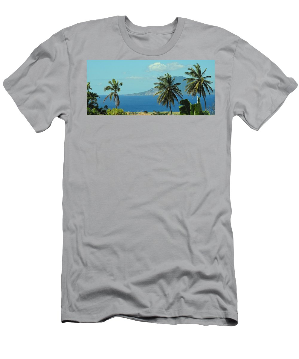 St Eustatius. Statia Men's T-Shirt (Athletic Fit) featuring the photograph Thecaribbean Island Of St Eustatius by Ian MacDonald
