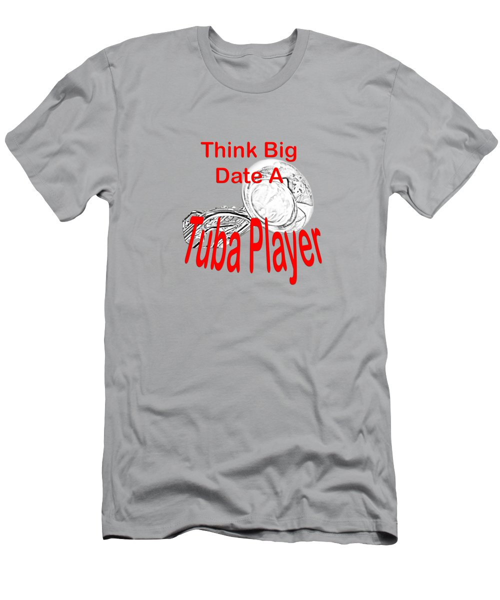 Big Grey Tuba Player Shirt Clothing Tee Shirt