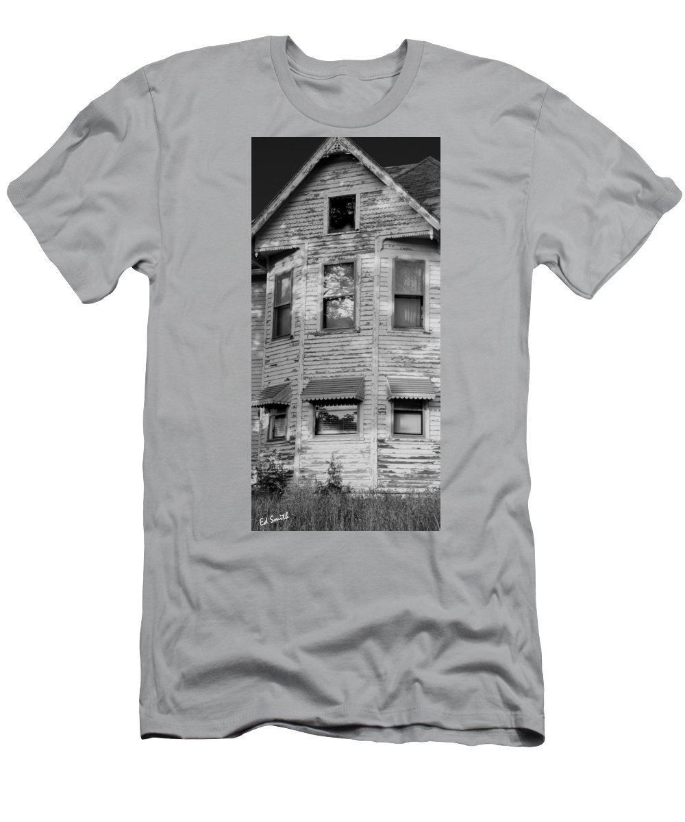 This Old House Men's T-Shirt (Athletic Fit) featuring the photograph This Old House by Ed Smith