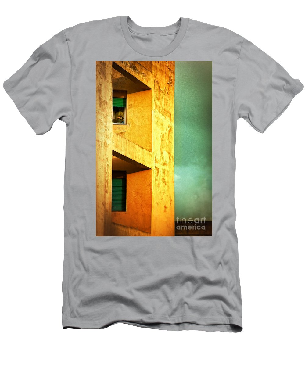 Architecture Men's T-Shirt (Athletic Fit) featuring the photograph Three At The Window by Silvia Ganora