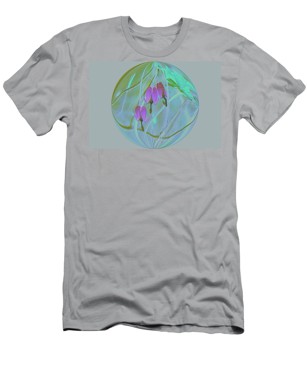 Flowers Men's T-Shirt (Athletic Fit) featuring the photograph Three Hearts by Jeff Swan