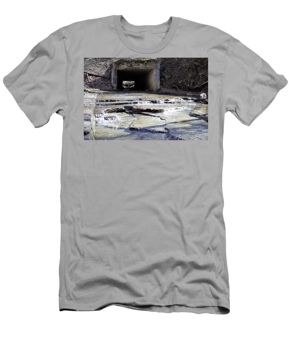 Tunnel Men's T-Shirt (Athletic Fit) featuring the photograph Through The Hill by Christina McNee-Geiger