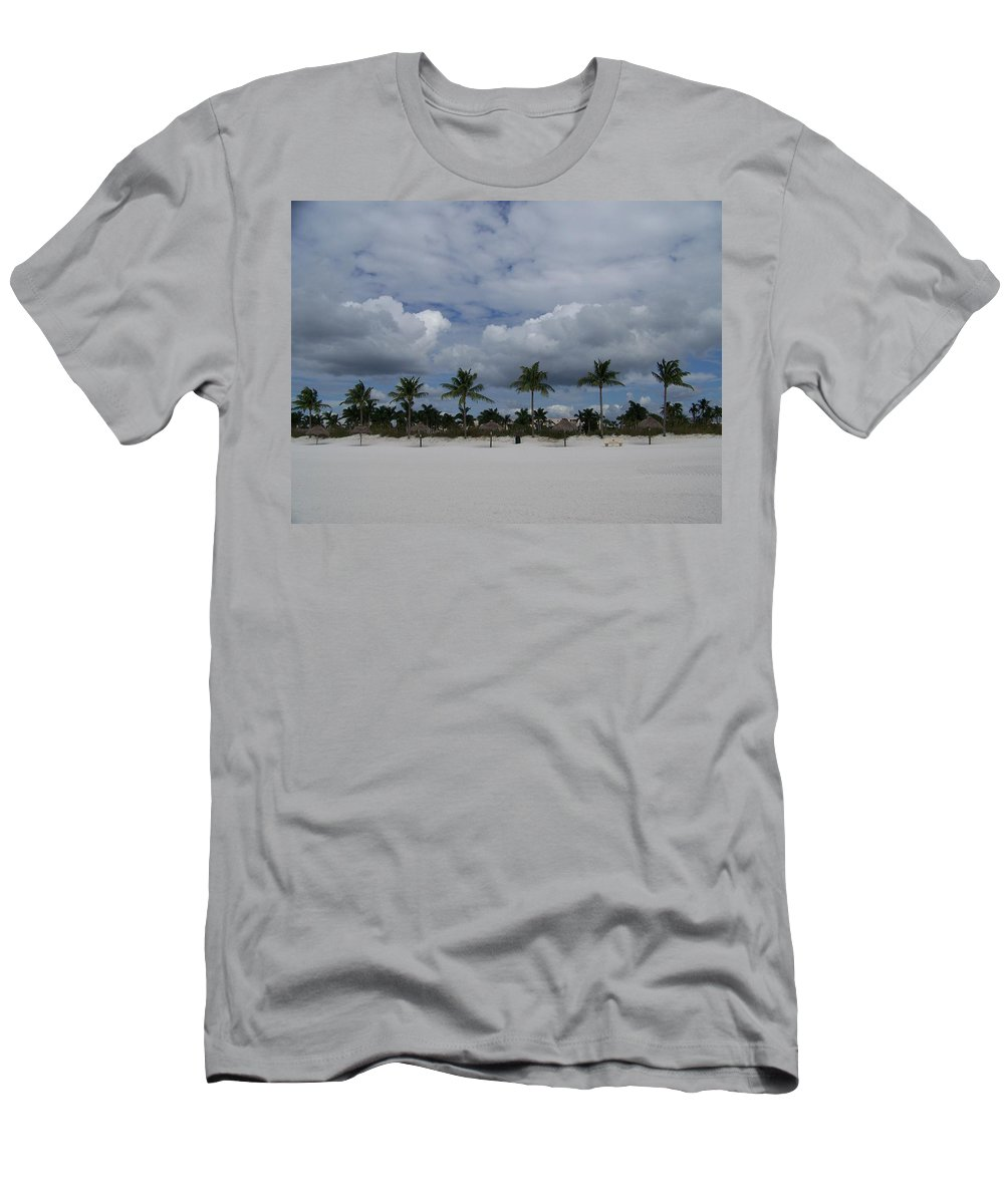 Marco Men's T-Shirt (Athletic Fit) featuring the photograph Tiger Tail Beach by Laurie Paci