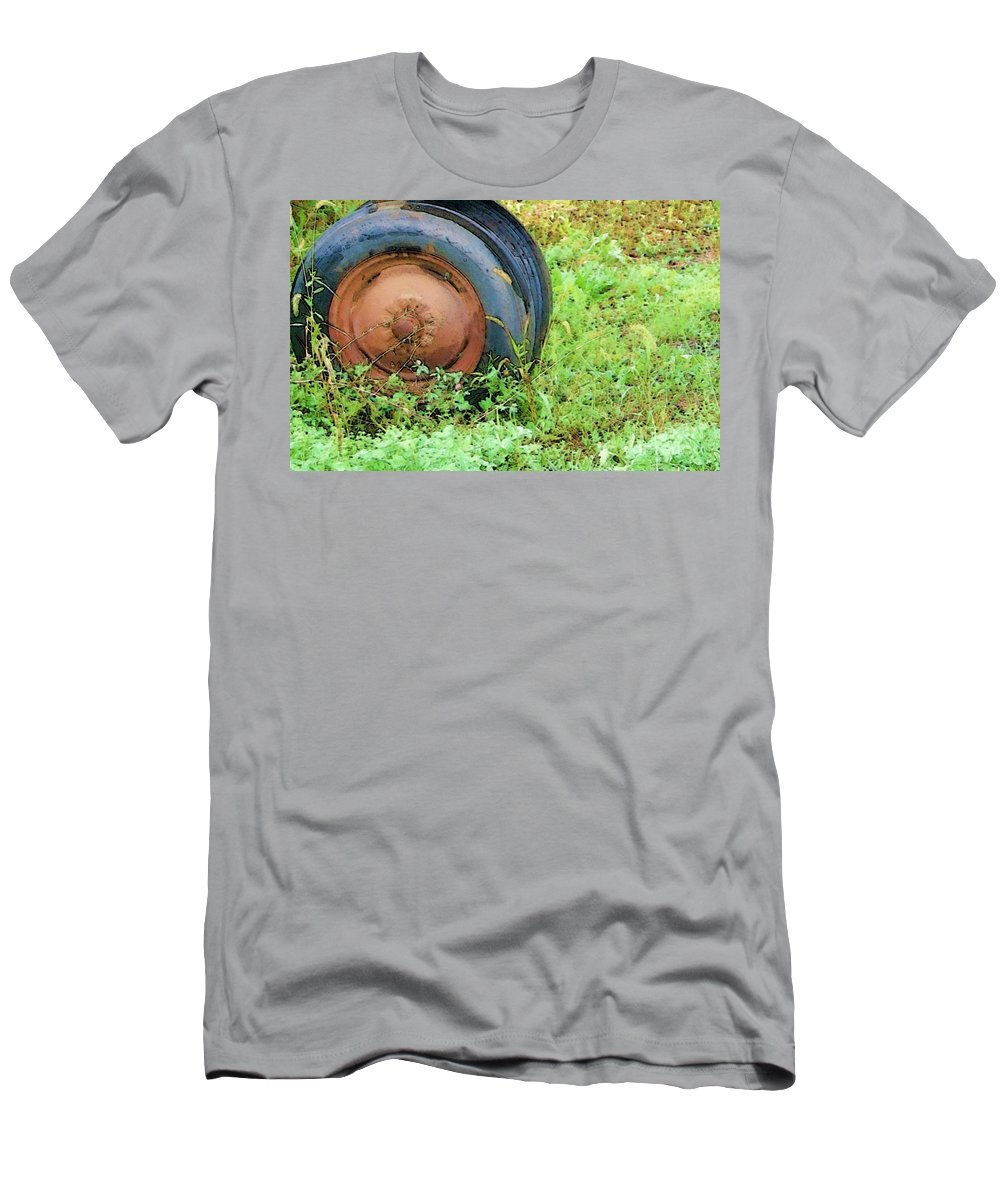 Tire Men's T-Shirt (Athletic Fit) featuring the photograph Tired by Debbi Granruth
