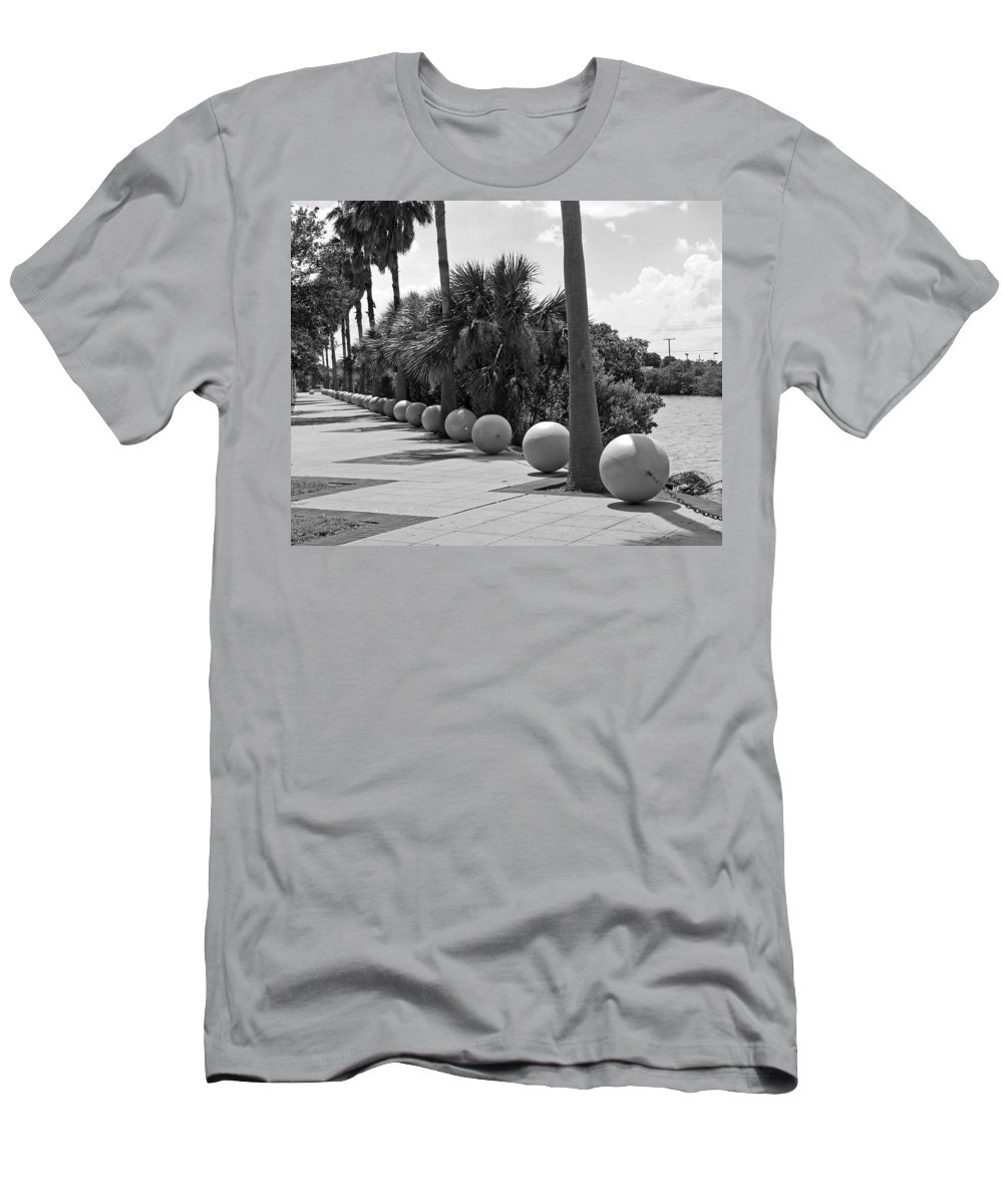 Florida; Titusville; Space; Coast; Astronauts; Astronaut; Cape; Canaveral; Mercury; Project; Freedom Men's T-Shirt (Athletic Fit) featuring the photograph Titusville On The Indian River Lagoon In Florida by Allan Hughes