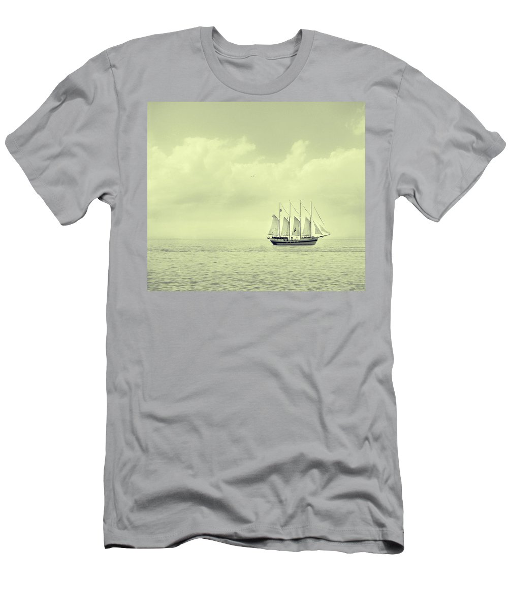 Ship Men's T-Shirt (Athletic Fit) featuring the photograph To Hold Time In Your Hand by Dana DiPasquale