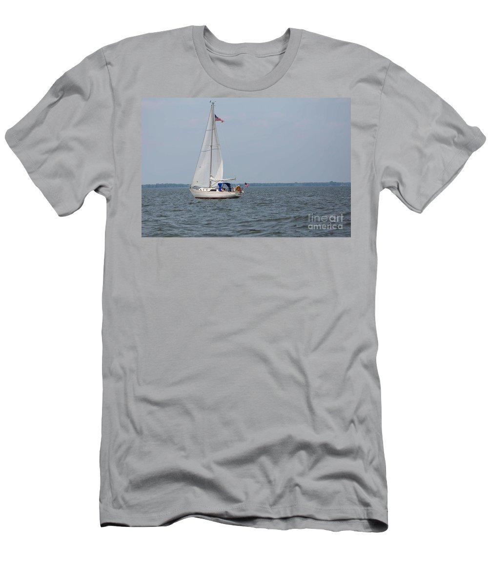 Sailing Men's T-Shirt (Athletic Fit) featuring the photograph To Infinity And Beyond by Nikki Vig