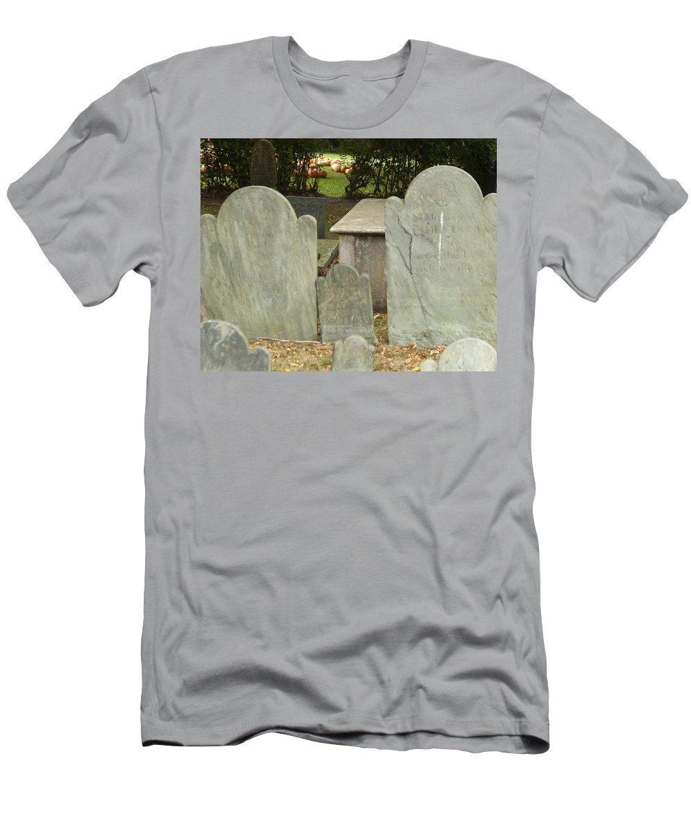 Pumpkin Men's T-Shirt (Athletic Fit) featuring the photograph To The Pumpkin Patch by Steven Natanson