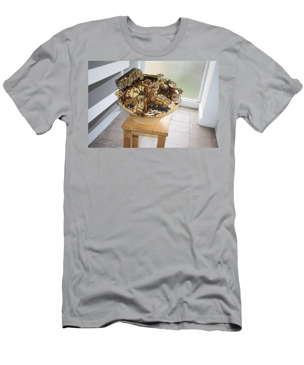 Jesus Men's T-Shirt (Athletic Fit) featuring the sculpture Tobacco Trials View 2 by Gloria Ssali